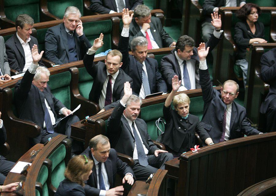 Sala Plenarna Sejmu – głosowanie