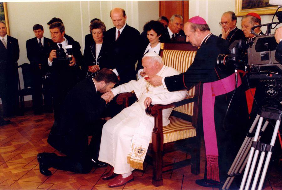 Wizyta Jana Pawła II w polskim parlamencie w 1999 roku
