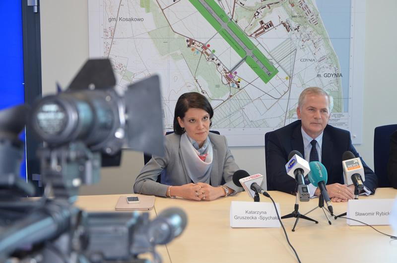 Konferencja prasowa Lotnisko Gdynia-Kosakowo