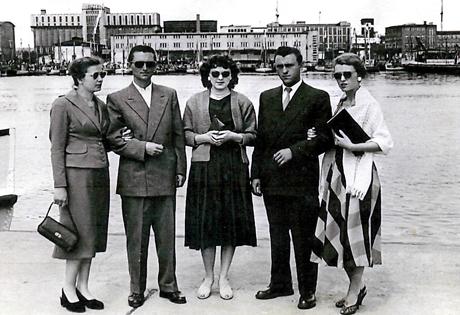 Gdynia 1957 rok Rodzina Wiszowatych