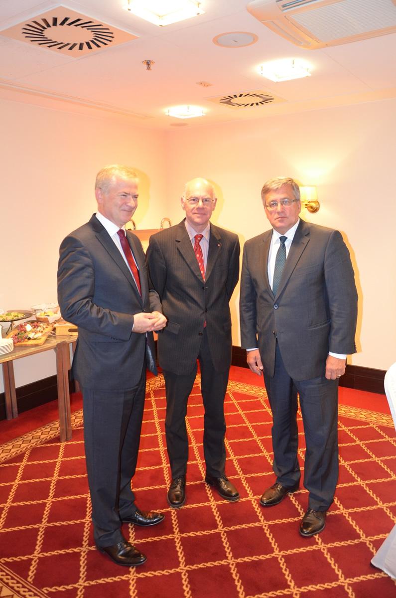 Robocze śniadanie z Przewodniczącym Bundestagu prof. dr Norbertem Lammertem