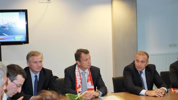 PGE Arena oficjalne spotkanie delegacji Sejmu i Bundestagu