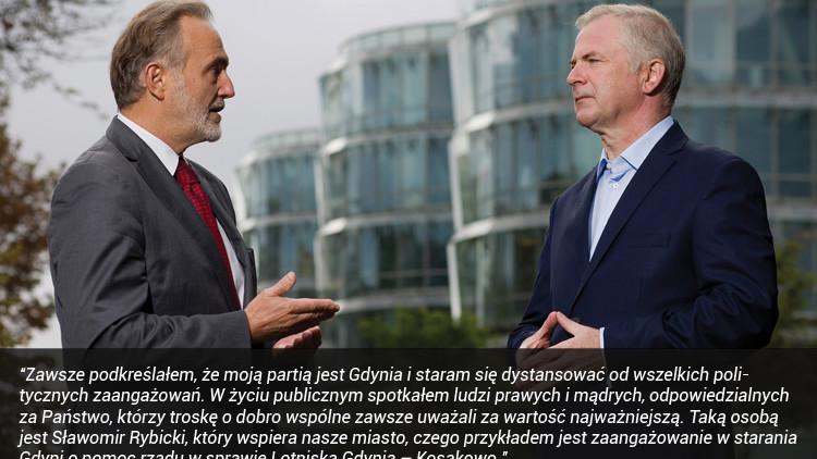 Prezydent Gdyni o Sławomirze Rybickim
