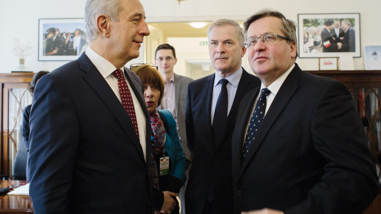 Spotkanie z Przewodniczącym Bundesratu Stanislawem Tillichem