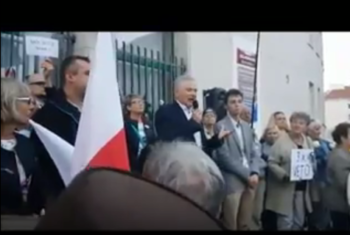 Wystąpienie Senatora na demonstracji w Gdyni