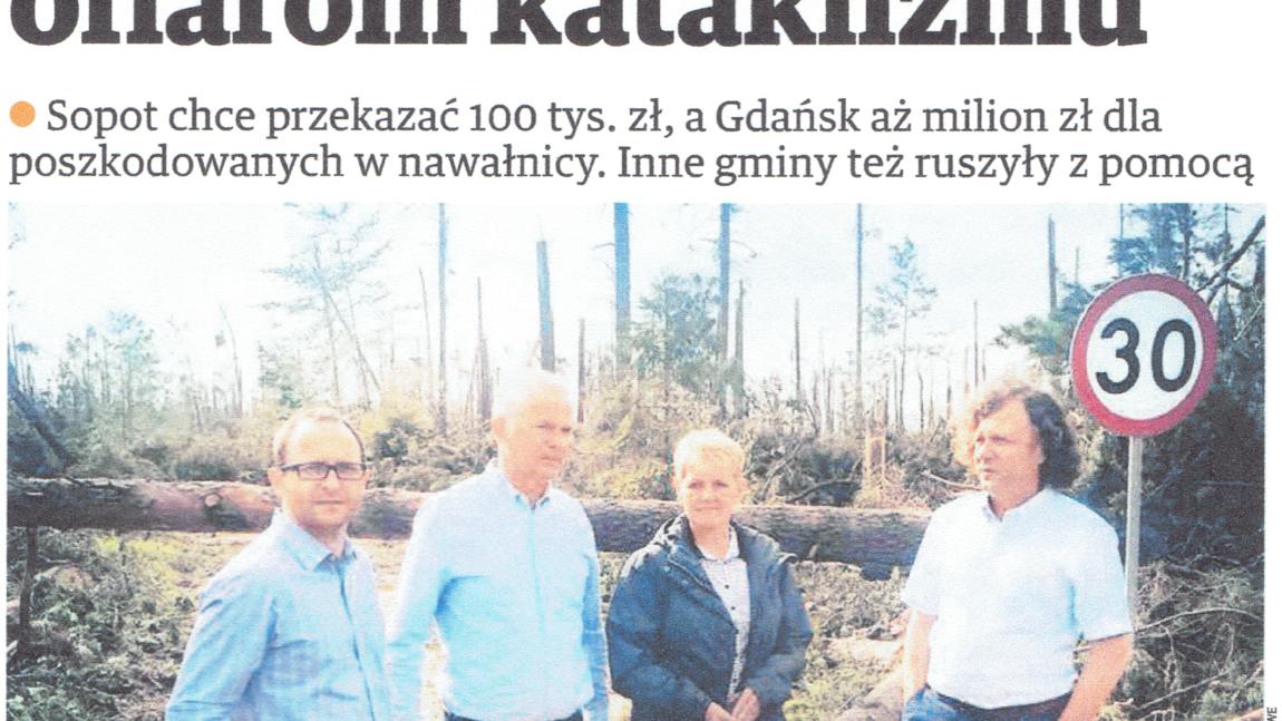 Dziennik Bałtycki: Samorządy pomagają ofiarom kataklizmu