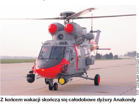 """Kurier Gdyński- """"Całodobowe dyżury śmigłowców znikają"""""""