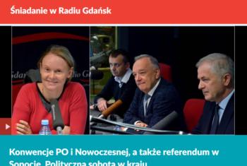 Śniadanie w Radiu Gdańsk, 23.10.2017 r.