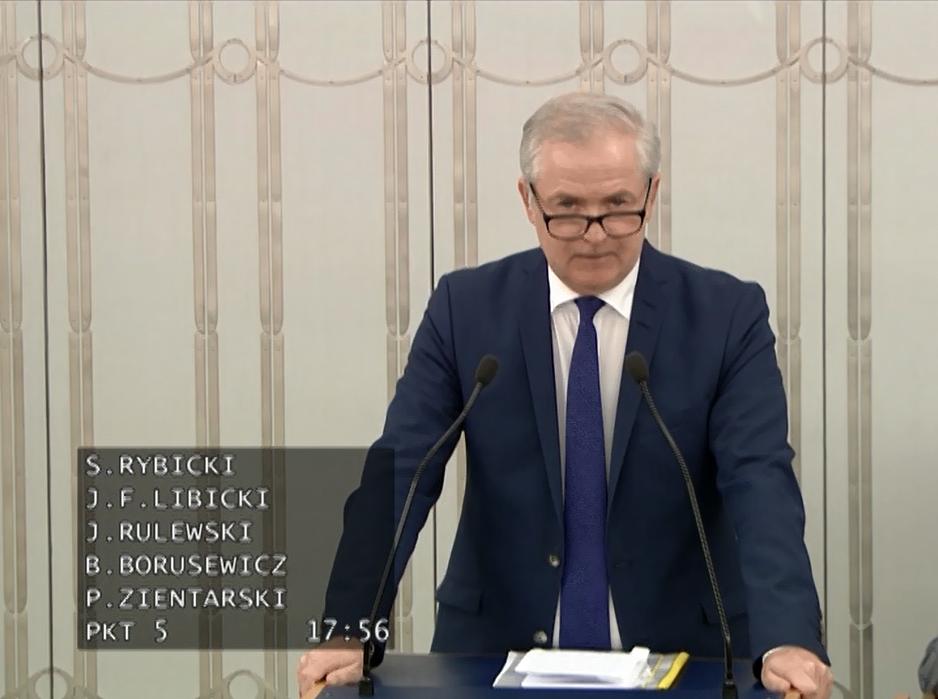 Wystąpienie Senatora w sprawie zmian w Regulaminie Senatu
