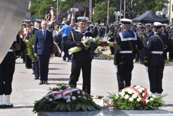 Uroczyste odsłonięcie pomnika Polski Morskiej
