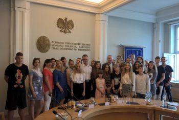 Spotkanie młodzieży polskiej z Białorusi z rektorem Akademii Morskiej