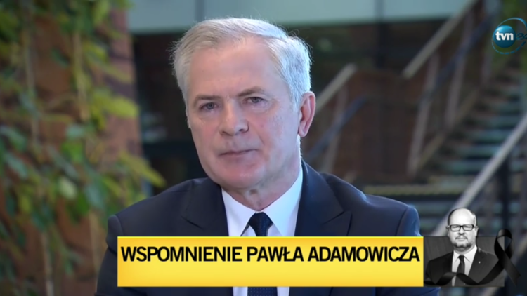 Wspomnienie Pawła Adamowicza w TVN24