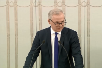 Senator Sławomir Rybicki zaprezentował projekt uchwały o śp. Pawle Adamowiczu